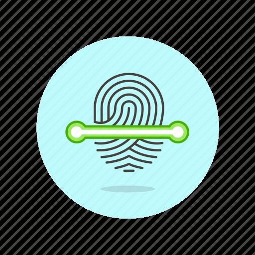 biometric, check, fingerprint, identity, scan, touch, verify icon