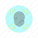 fingerprint, scan, biometric, check, identity, touch, verify