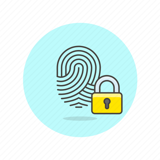 fingerprint, lock, password, safe, scan, security, shield, touch icon