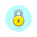 circle, encrypt, lock, protect, round, safe, secure icon