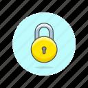 circle, lock, encrypt, round, safe, secure, protect icon
