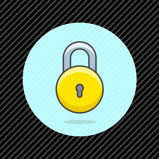 circle, encrypt, lock, protect, round, safe, secure icon