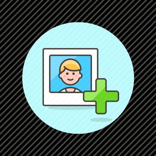 account, add, avatar, image, man, person, profile, user icon