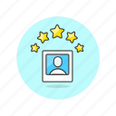 avatar, image, like, person, profile, rating, user icon