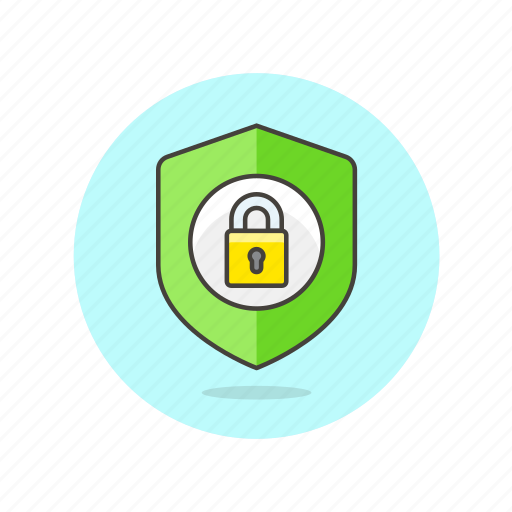 lock, protected, safe, security, shield, system icon