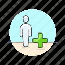 add, user, account, avatar, person, profile
