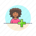 add, african, american, female, user, users icon