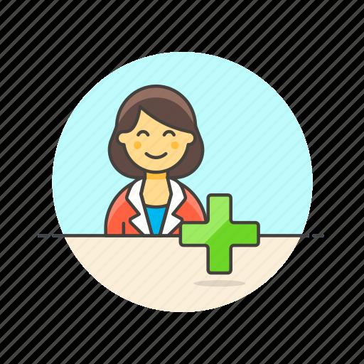 account, add, avatar, person, profile, user, woman icon