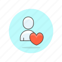 love, user, users icon