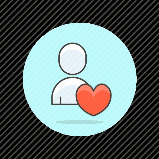 avatar, favorite, like, love, person, profile, user icon