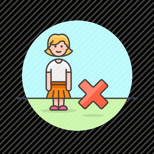 account, avatar, denied, person, profile, remove, user, woman icon