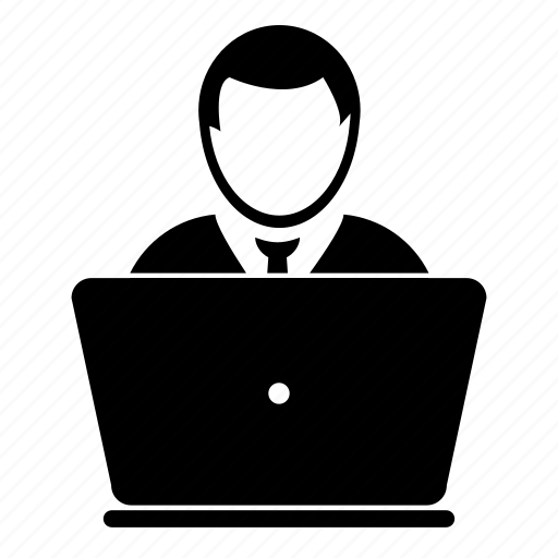 admin, computer, laptop, men, people, user icon