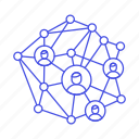avatar, circle, communication, connect, graph, network, social, user, web icon