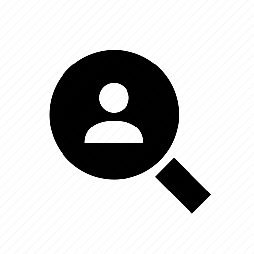 account, check, magnifier, profile, search, user, zoom icon