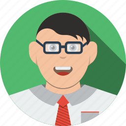 account, avatar, business, businessman, character, clever, finance, financial, glasses, human, male, man, people, person, profile, user, users icon