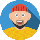 account, avatar, bandana, beard, boy, character, human, man, people, person, profile, user icon