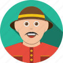 account, avatar, character, hat, human, male, man, people, person, profile, user icon