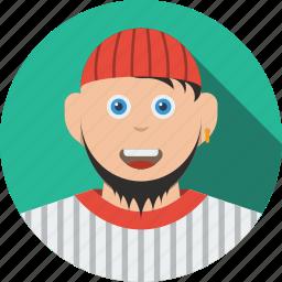 account, avatar, beard, boy, character, human, male, man, people, person, profile, user icon