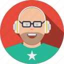 account, avatar, boy, character, headphones, human, male, man, meloman, people, person, profile, user icon