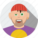 account, avatar, beard, boy, character, human, male, man, people, person, profile, user icon