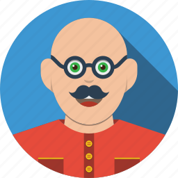 account, avatar, boy, character, glasses, human, male, man, people, person, profile, user icon