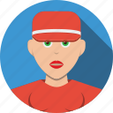 account, avatar, cap, character, female, girl, human, people, person, profile, user, woman icon