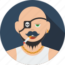 account, avatar, beard, boy, character, human, male, man, person, pirate, profile, user icon