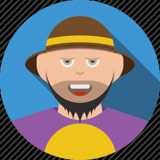 account, avatar, beard, boy, character, female, male, person, profile, user, woman icon