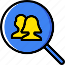 group, people, search, team, user, users icon