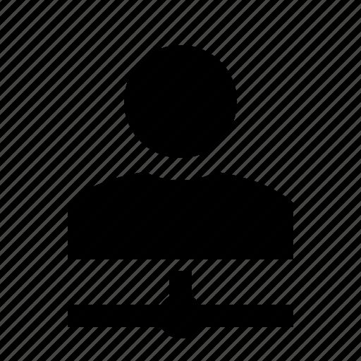 account, man, network, person, profile, user, woman icon