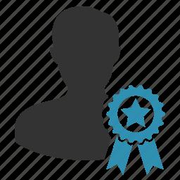 certified, male, man, winner icon
