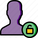group, people, team, unlock, user icon