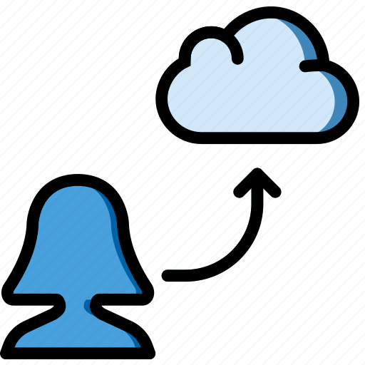 add, cloud, group, people, team, user icon