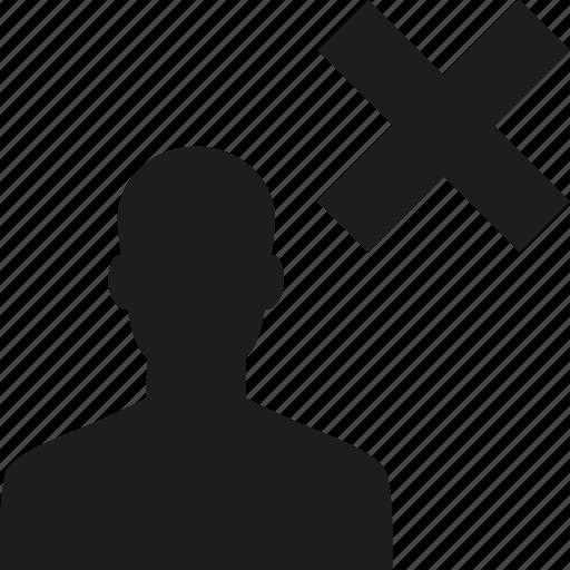 avoid, unfollow, user icon