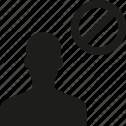avoid, block, user icon
