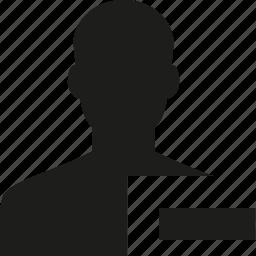 remove, user icon