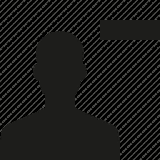 remove, unfollow, user icon