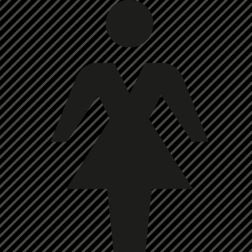 dress, female, user icon