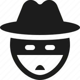 hat, thief, user, zorro icon