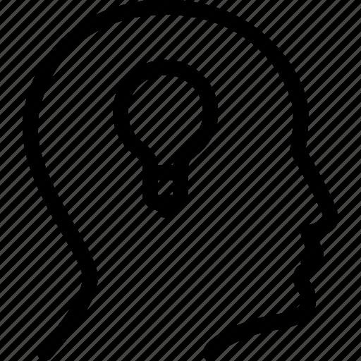 lightbulb, people, person, profile, user icon
