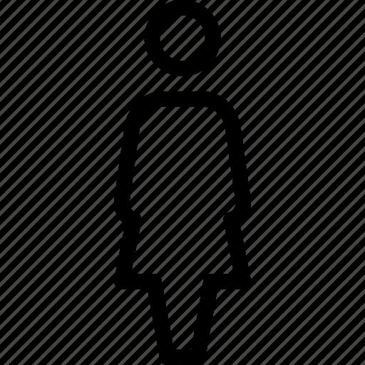 female, profile, single, user, woman icon