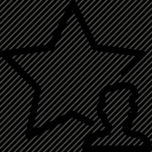 people, person, profile, star, user icon