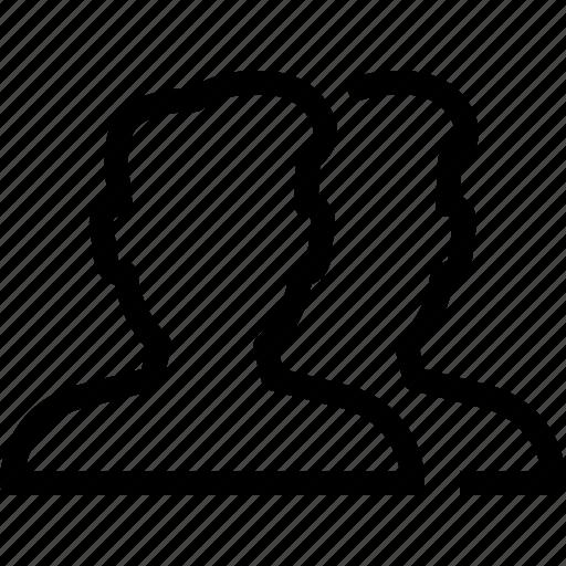 males, person, profile, two, user icon