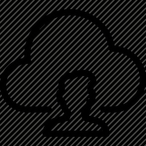 cloud, person, profile, storage, user icon