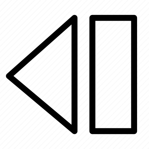 arrow, back, backward, media, multimedia, previous, return icon