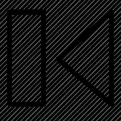 back, backwards, behind, media, multimedia, reverse, skip icon
