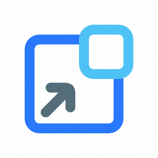 Arrow, flow of out diagonal, ui, ux icon - Download on Iconfinder