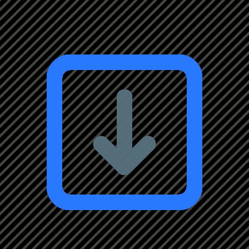 arrow, move down, ui, ux icon