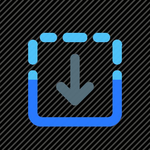 arrow, expand down, ui, ux icon
