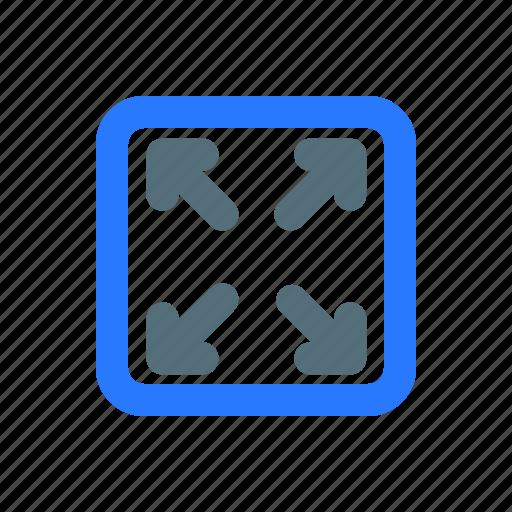 arrow, expand, ui, ux icon
